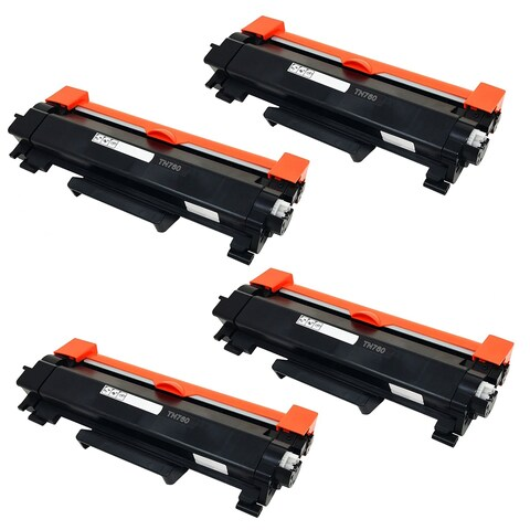 4PK Compatible TN760 Toner Cartridge NO CHIP For Brother DCP-L2550DW HL-L2350DW HL-L2390DW HL-L2395DW HL-L2370DW ( Pack of 4 )