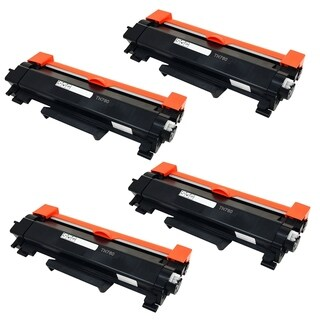 4PK Compatible TN760 Toner Cartridge For Brother DCP-L2550DW HL-L2350DW HL-L2390DW HL-L2395DW HL-L2370DW ( Pack of 4 ) - Black