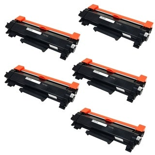 5PK Compatible TN760 Toner Cartridge NO CHIP For Brother DCP-L2550DW HL-L2350DW HL-L2390DW HL-L2395DW HL-L2370DW ( Pack of 5 )