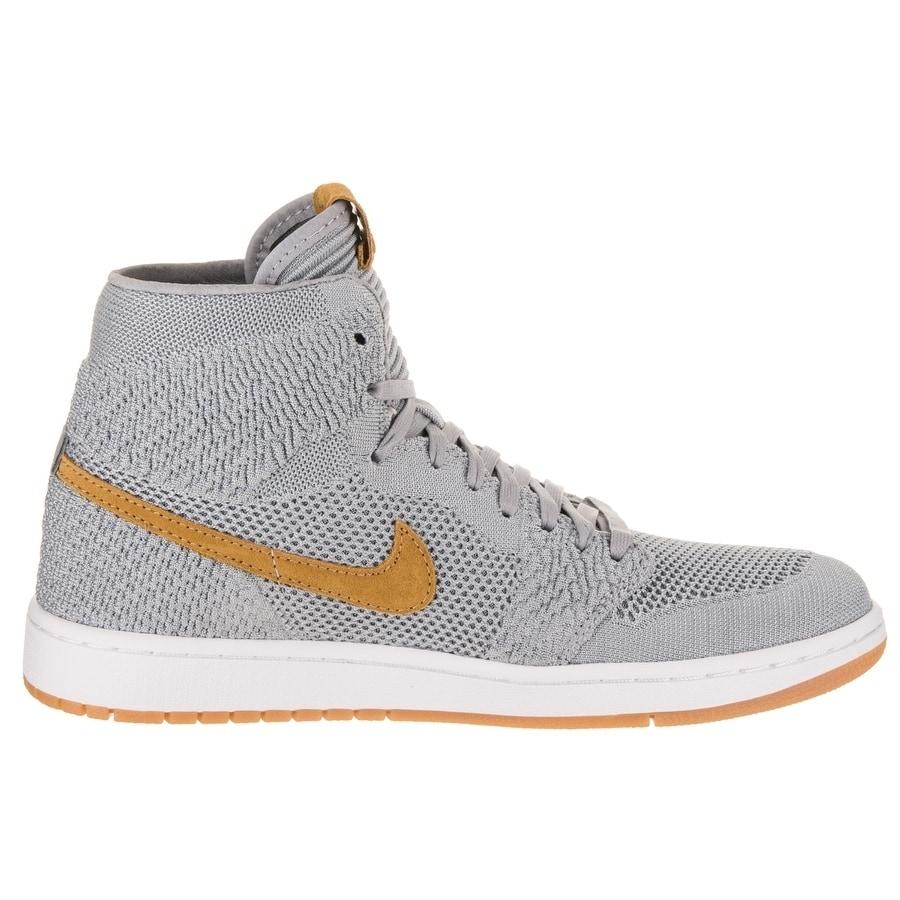 Shop Nike Jordan Men s Air Jordan 1 Retro Hi Flyknit Basketball Shoe - Free  Shipping Today - Overstock - 20724138 35ca4a44b