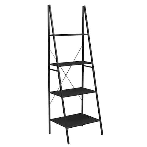"Carbon Loft Willis 72-inch Ebony Ladder Bookcase - 72"""
