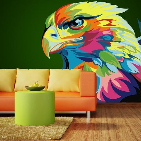 """Animal Head Full Color Wall Decal Sticker AN-296 FRST Size52""""x52"""""""
