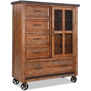 Taos Canyon Brown 5-drawer Gentleman's Chest