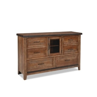 Taos Canyon Brown 6-drawer Dresser with Door