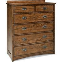 Oak Park Mission Brown 6-drawer Standard Chest