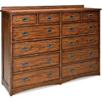 Oak Park Mission Brown 12-drawer Dresser