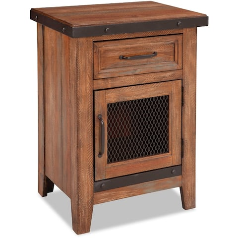 Taos Canyon Brown 1-drawer Nightstand
