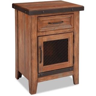Taos Canyon Brown 1-drawer Nightstand