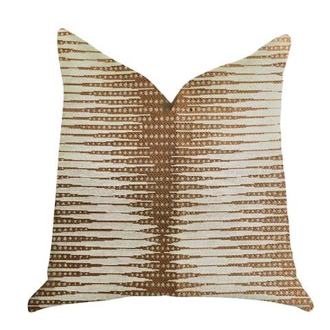 Plutus Pokaline Chevron Luxury Decorative Throw Pillow