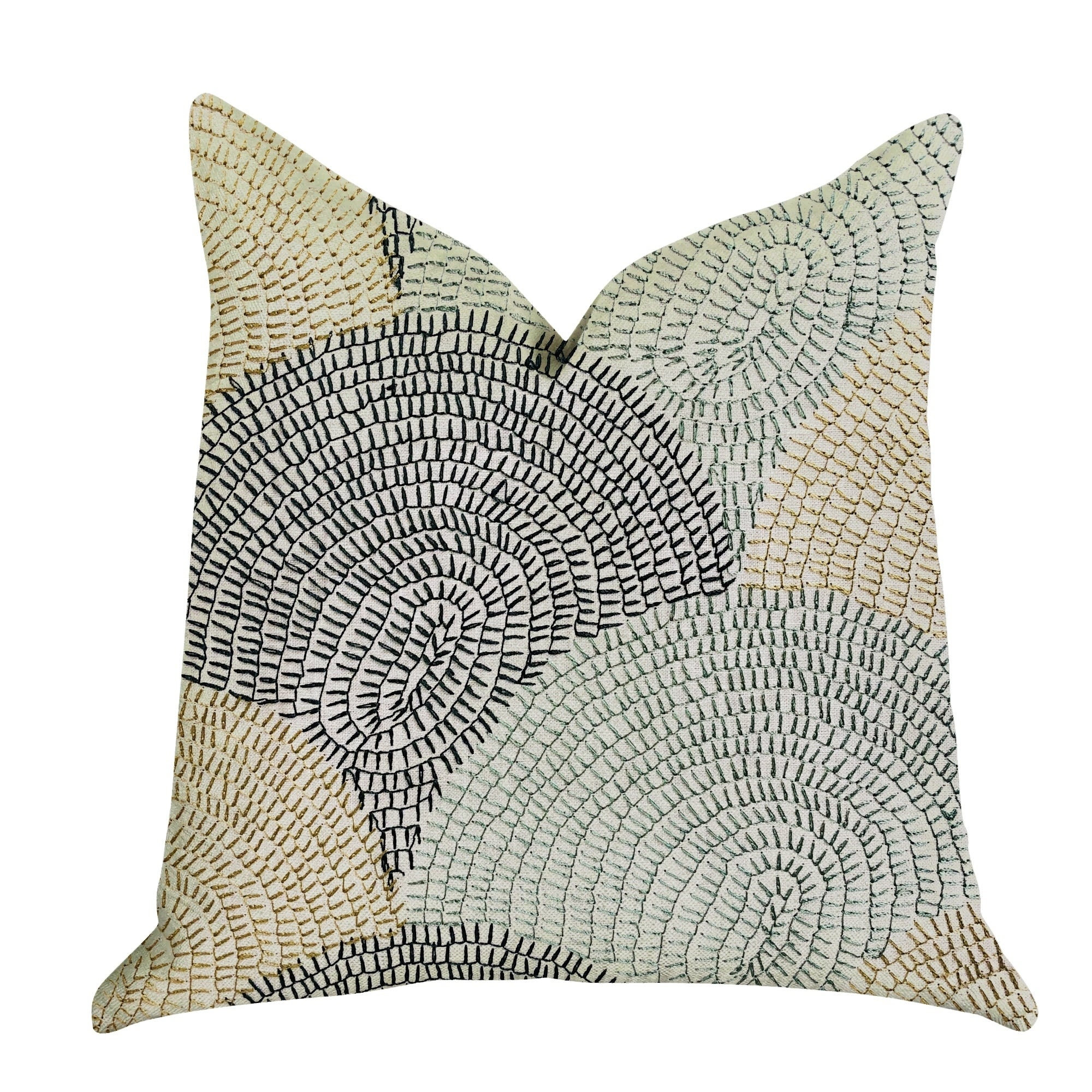 Plutus Marquee Lagoon Multiple Color Luxury Decorative Throw Pillow (Rectangle - double sided 12 x 25 - Medium)