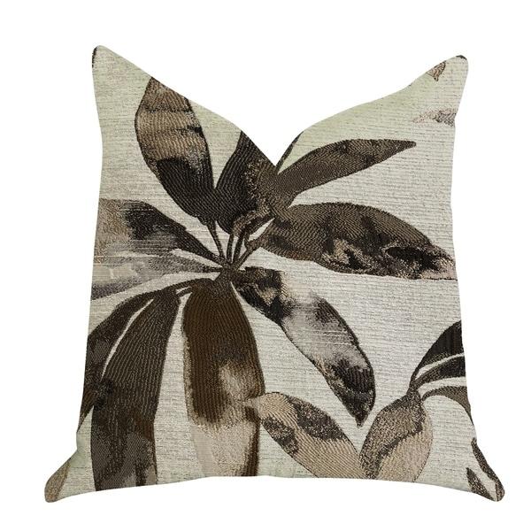 Plutus Santorini Cove Beige and Brown Tones Luxury Decorative Throw Pillow