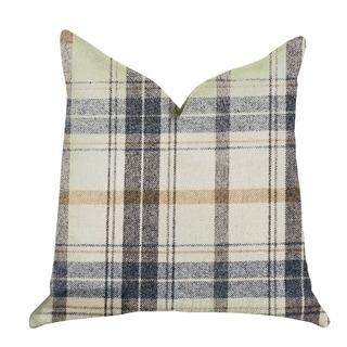 Plutus Plaid Rendezvous Luxury Throw Motif Pillow
