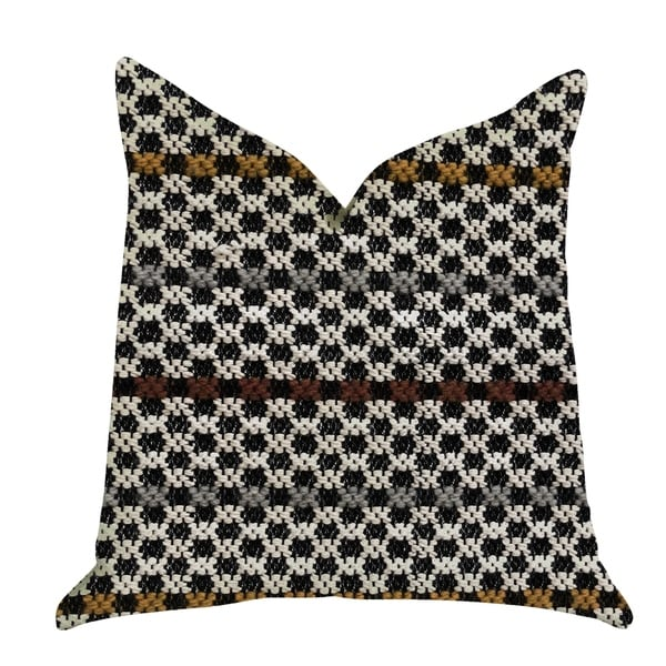 Plutus Poppy Chic Woven Luxury Decorative Throw Pillow in Multi Color