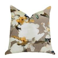 Plutus Maya De Aqua Floral Multi Color Luxury Throw Pillow