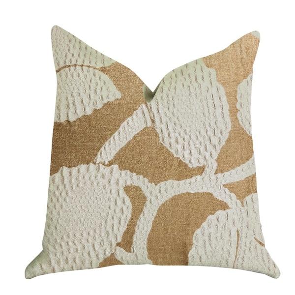 Plutus Golden Arabella Vine in Bronze Tones Luxury Decorative Throw Pillow