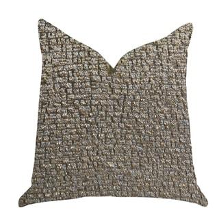 Plutus Moondust Radiance Luxury Decorative Throw Pillow in Gold Leaf