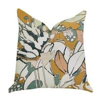 Plutus Camellia Floral Multi Color Luxury Throw Pillow
