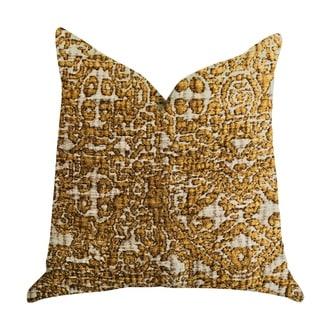 Plutus Golden Cosmo Textured Luxury Decorative Throw Pillow