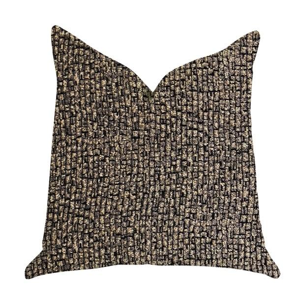 Plutus Chameleon Bronze and Gold Tone Luxury Decorative Throw Pillow