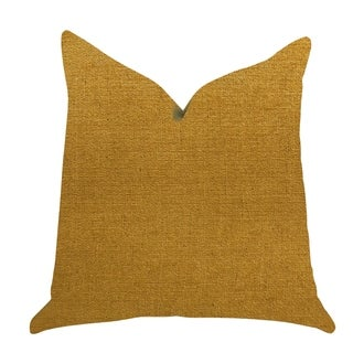 Plutus Wild Turmeric Luxury Decorative Throw Pillow in Gold