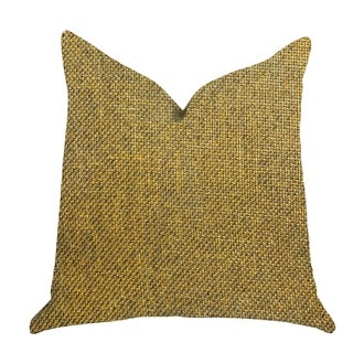 Plutus Mustard Seed Luxury Decorative Throw Pillow in Dark Yellow