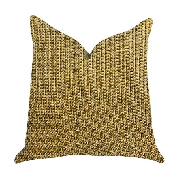 Plutus Mustard Seed Luxury Decorative Throw Pillow in Dark Yellow