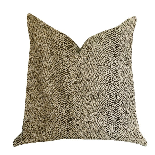 Plutus Shimmer in Gold Metallic Luxury Decorative Throw Pillow