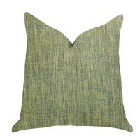 Plutus Mango Bliss Luxury Throw Pillow in Green and Yellow Tones