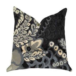 Plutus Leilani Fleurs Luxury Throw Pillow in Blue and Beige Tones