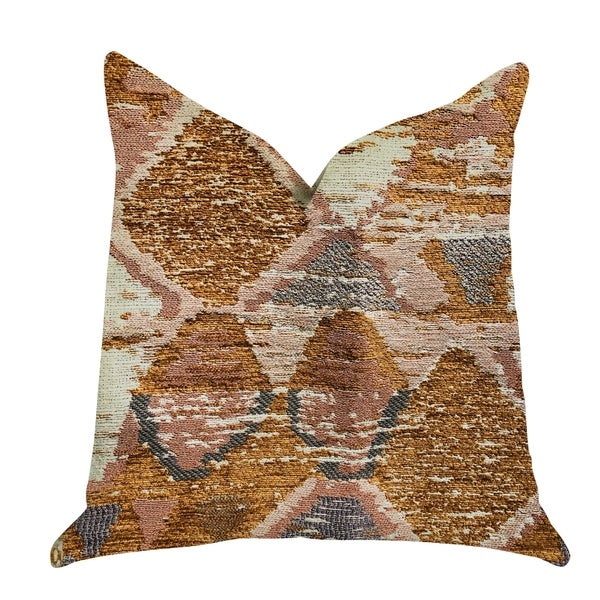 Plutus Mira Oasis Shades of Brown Luxury Decorative Throw Pillow