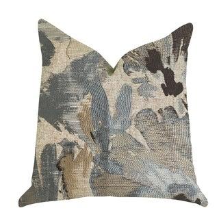 Plutus Icy Blue Wildflower Luxury Throw Pillow