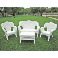 International Caravan Chelsea Resin Wicker 4-Piece Conversation Set