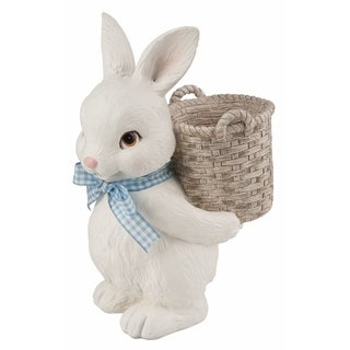 """Resin Bunny Basket Container - 6.5""""l x 4.5""""w x 8.75""""h"""