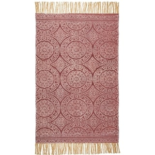 Annecy Hand Woven Printed Rug - 3' x 5'