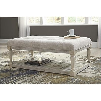 Signature Design By Ashley, Shawnalore Casual White Wash Coffee Table