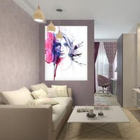 """Girl Portrait Full Color Wall Decal Sticker AN-317 FRST Size 52""""x80"""""""