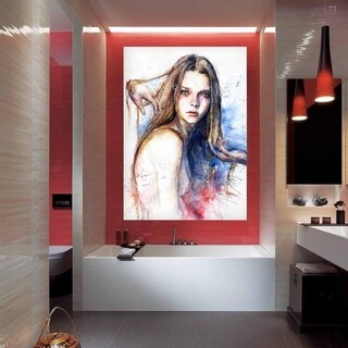 """Portrait Art Full Color Wall Decal Sticker AN-318 FRST Size 30""""x47"""""""