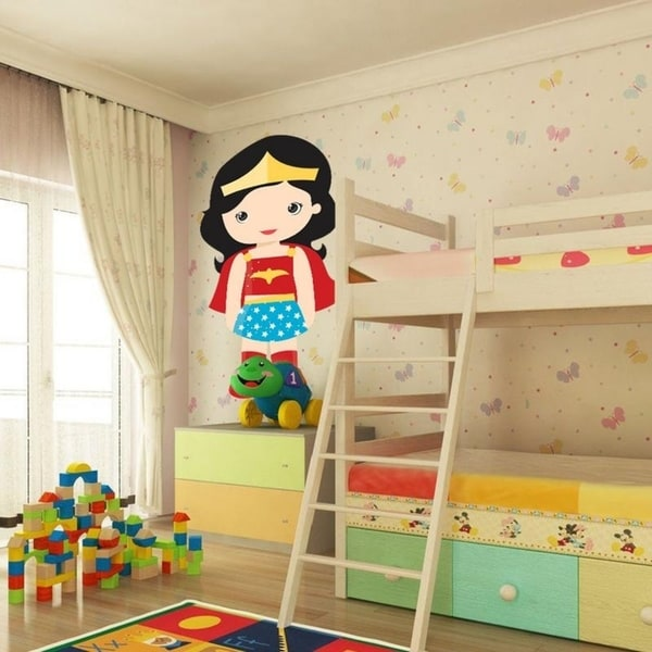 shop supergirl kids full color wall decal sticker an-336 frst size