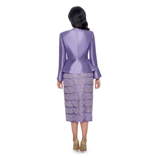 Giovanna Collection Women's Silk Wool and Tiered Lace 3-piece Skirt Suit (More options available)