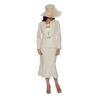 Giovanna Collection Women's Metallic Brocade 3-piece Skirt Suit