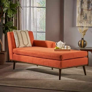 Stormi Mid Century Fabric Chaise Lounge By Christopher Knight Home