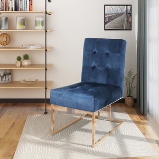 Barto Modern Velvet Accent Dining Chair by Christopher Knight Home