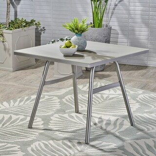 Alcott Outdoor Aluminum Square Dining Table by Christopher Knight Home