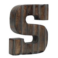 Beautiful Brown Router Grey Filled Wooden Letters for Home and Office Decoration-Luxe collection by Decoriny
