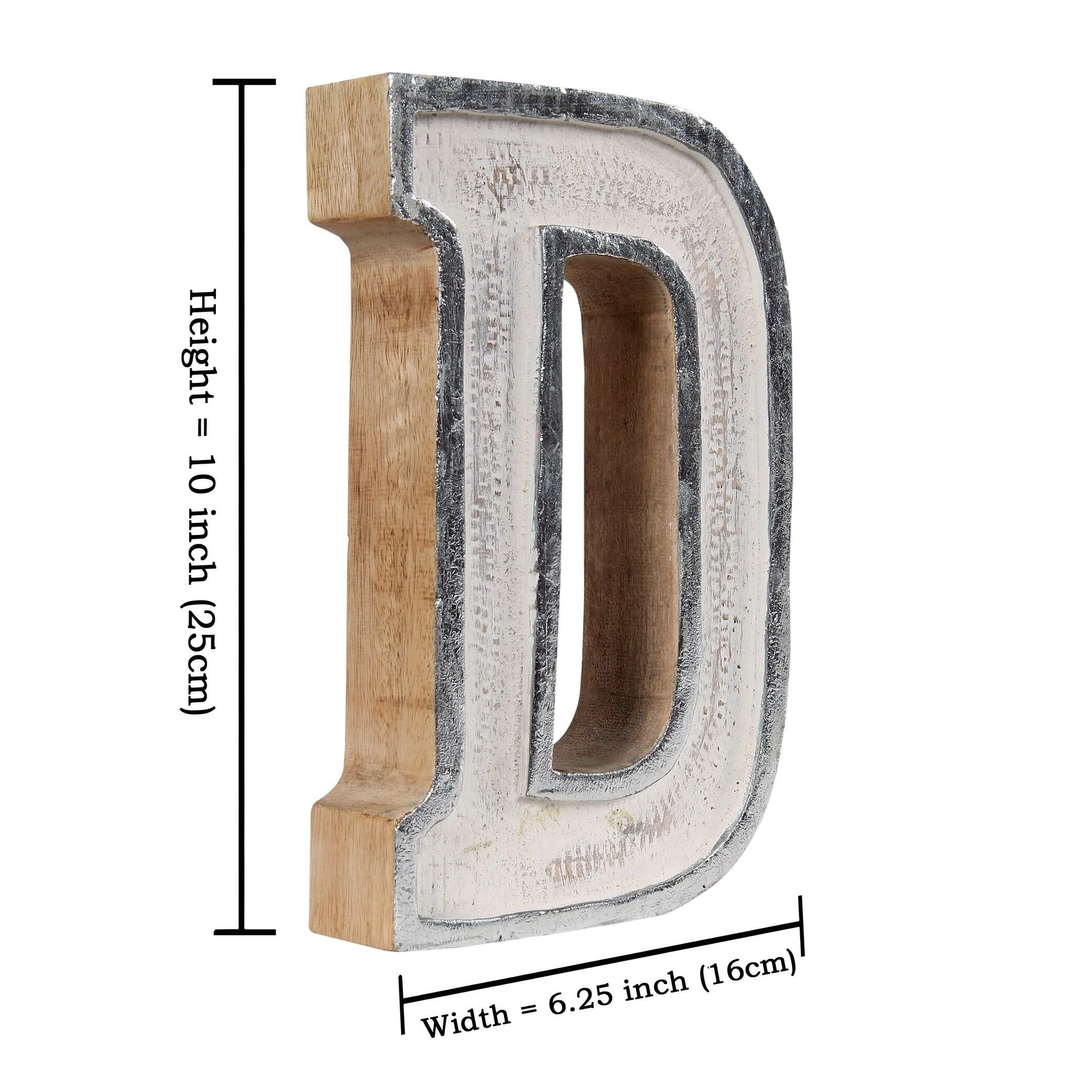 Kasper White Fill Letter Block Decor