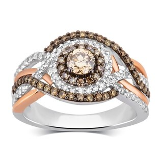 Divina 10KT White Gold 1.00ct TDW Diamond Engagement Ring (3 options available)