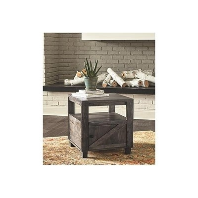 Signature Design By Ashley Chaseburg Contemporary Light Brown Wood End Table Free Shipping Today 26554267