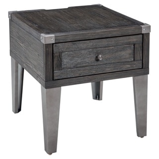 Signature Design by Ashley, Todoe Contemporary Dark Gray End Table