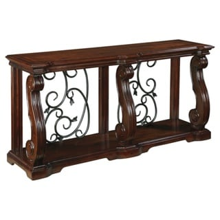 Signature Design by Ashley, Alymere Casual Rustic Brown Sofa Table