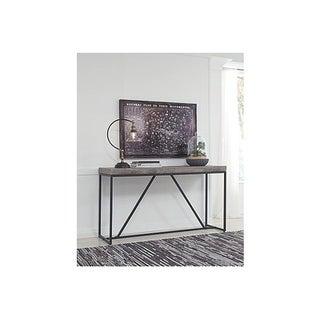 Signature Design by Ashley, Brazin Casual Gray Sofa Table